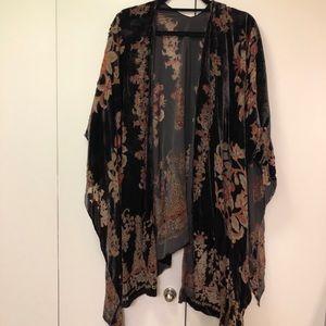 Velvet Kimono Shawl